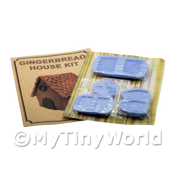 Dolls House Miniature  | Dolls House Miniature Gingerbread House Kit With Silicone Mould