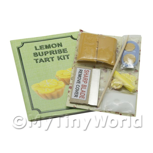 Dolls House Miniature Lemon Tart Kit With Silicone Mould