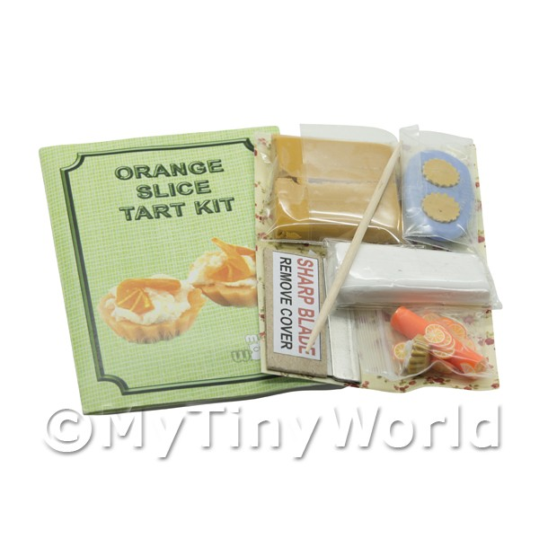 Dolls House Miniature Orange Slice Tart Kit With Silicone Mould