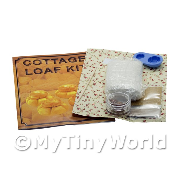 Dolls House Miniature Cottage Loaf With Silicone Mould