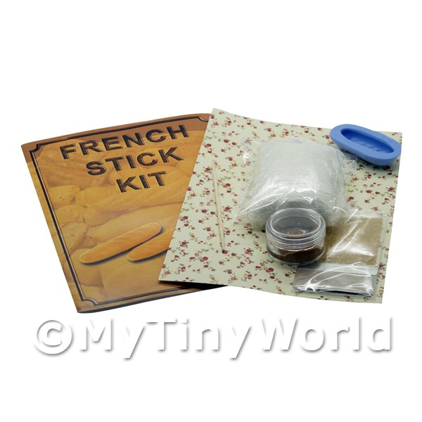 Dolls House Miniature  | Dolls House Miniature French Stick Kit With Silicone Mould