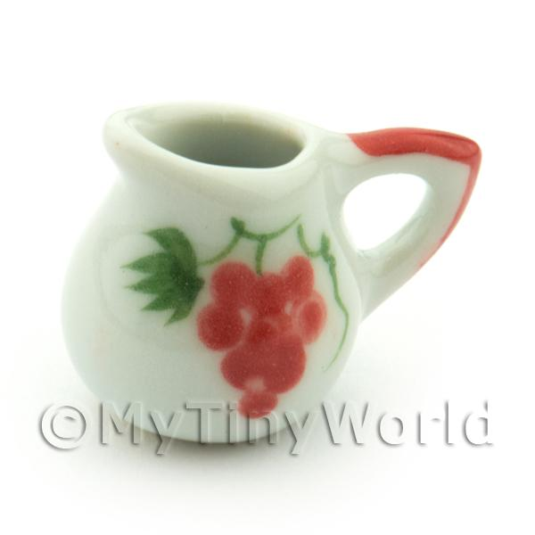 Dolls House Miniatures  | Dolls House Miniature Grape Design Ceramic Round Water Jug