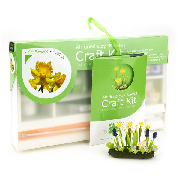 Dolls House Miniature Daffodil Flower Kit - Challenging