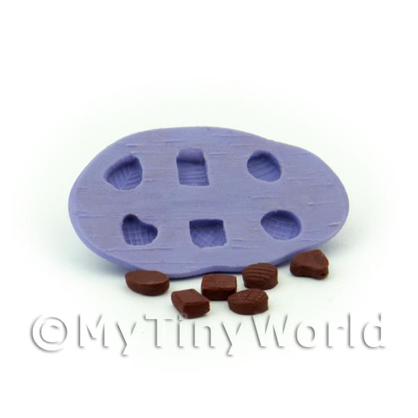 Dolls House Miniature  | Dolls House Miniature 6 Piece Textured Top Chocolate Mould