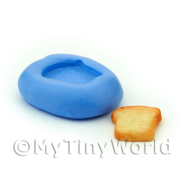 Dolls House Miniature 15mm Bread / Toast Slice Mould