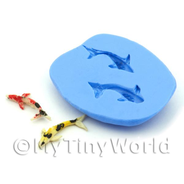 Dolls House Miniature Double Koi Fish Silicone Mould