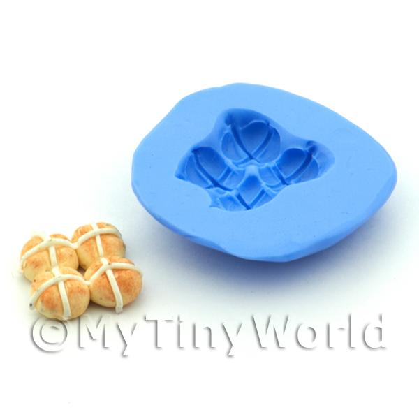 Dolls House Miniature 14mm Hot Cross Bun Silicone Mould