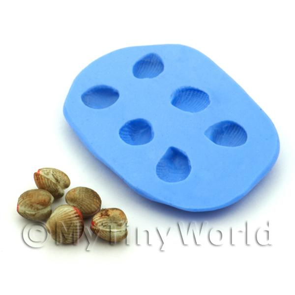 Dolls House Miniature Cockle Halves Silicone Mould