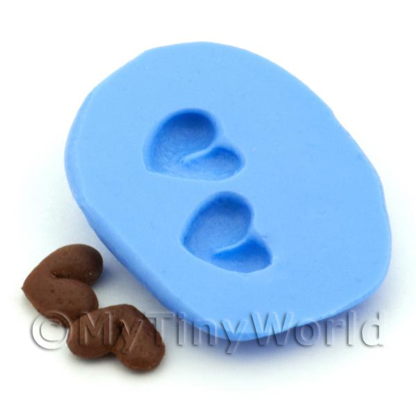 Dolls House Miniature Heart Cookie Silicone Mould