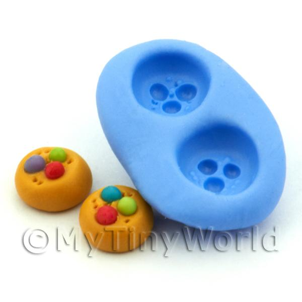 Dolls House Miniature Smartie Cookie Silicone Mould