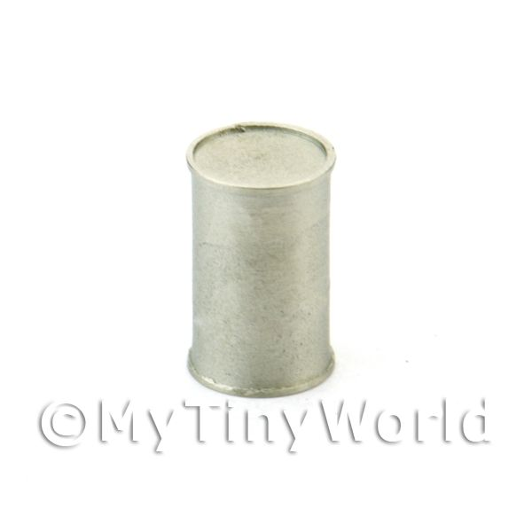 Dolls House Miniature Plain White Metal Blank Food Can