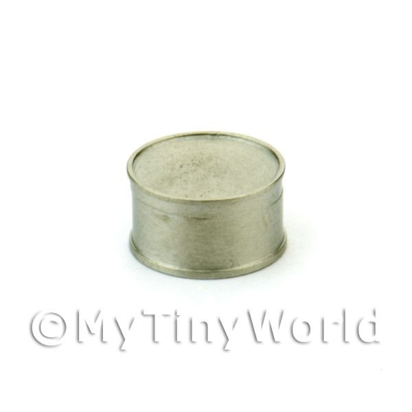 Dolls House Miniature White Metal Tuna / Meat Can
