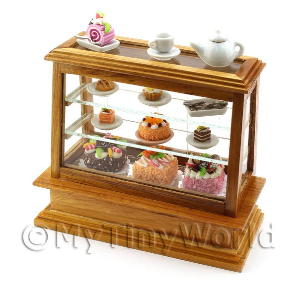 Dolls House Miniature  | Medium Dolls House Miniature Wood Cafe Counter