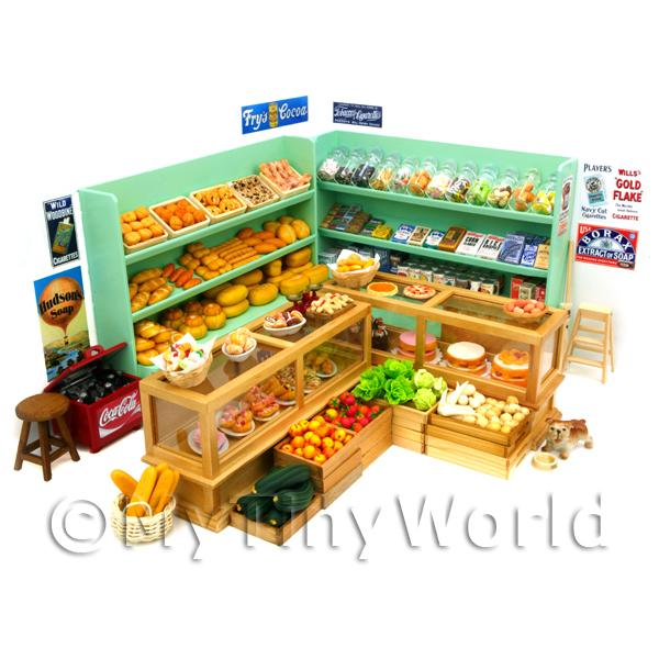 Dolls House Miniature Complete General Store Layout
