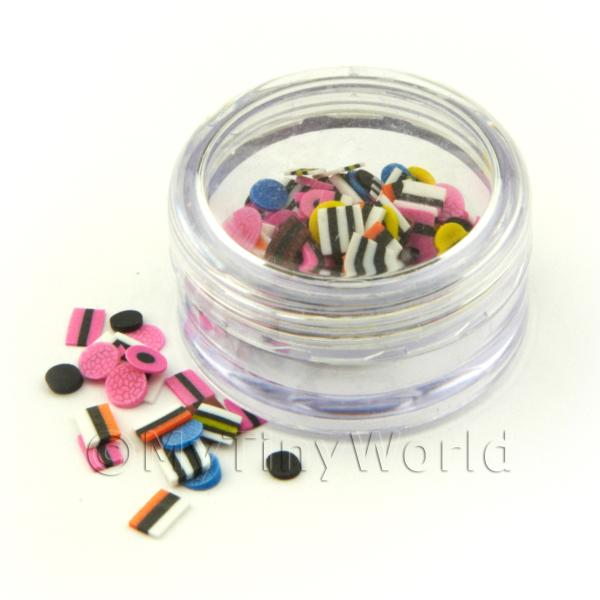 Popular Liquorice Allsorts Nail Art Pot With 120 Mixed Slices