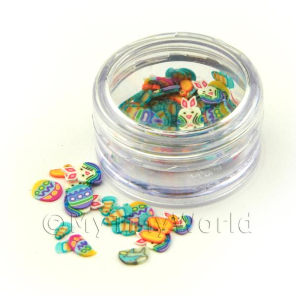 Easter Themed Nail Art Pot Containing 120 Slices
