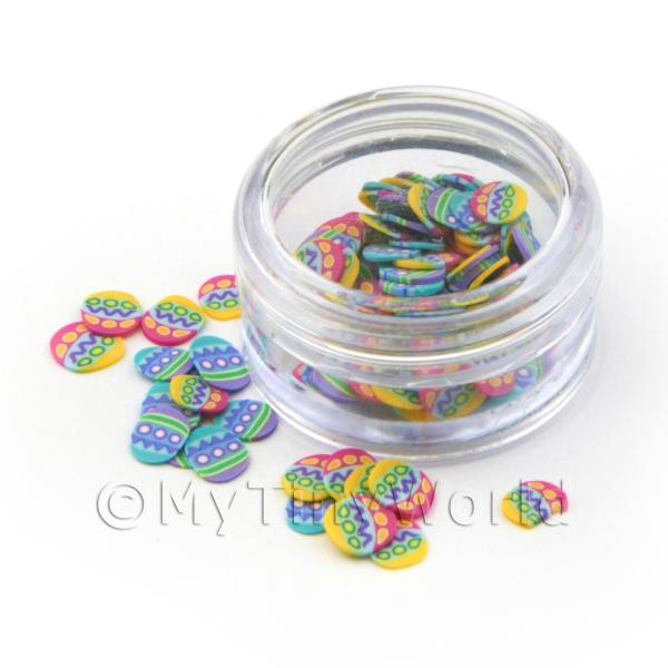 Easter Egg Nail Art Pot Containing 120 Slices