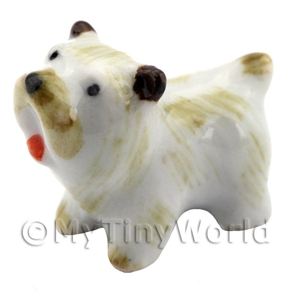 Dolls House Miniature Ceramic West Highland Terrier