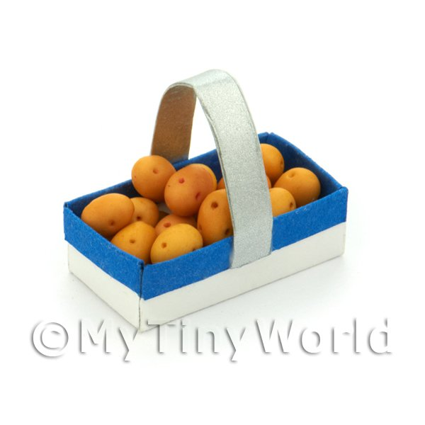 Handmade Dolls House Miniature Punnet With 15 Potatoes