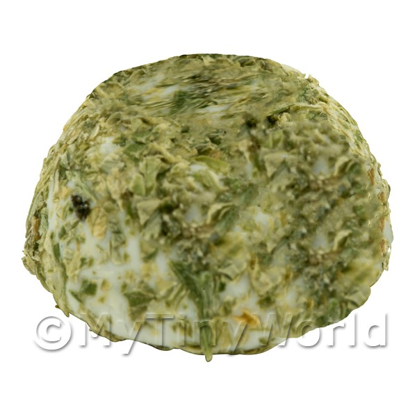 Dolls House Miniature Handmade Whole Herb Coated Caprino Cheese (Round)
