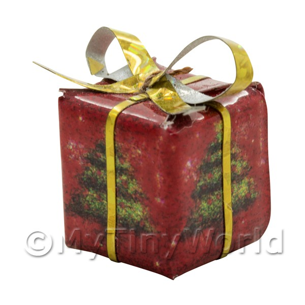 Dolls house Miniature  Large Christmas Parcel Style 1