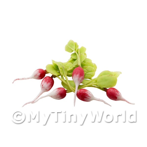 Dolls House Miniature Vegetables - Radish