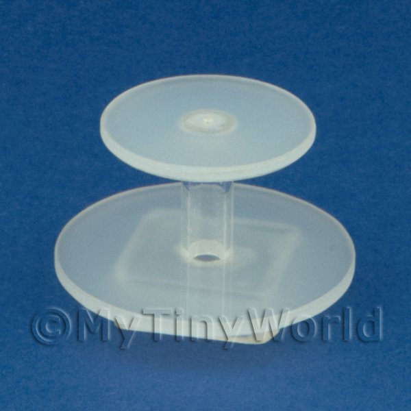 Dolls House Miniature 2 Tier Acrylic Cake Stand