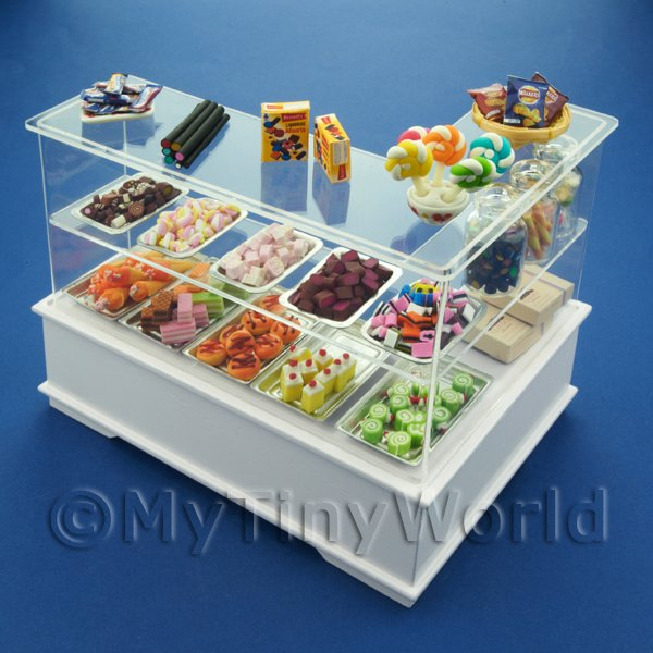 Dolls House Miniature Left Hand 3 Tier Sweet Shop Counter