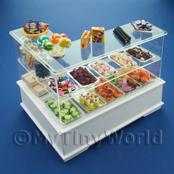 Dolls House Miniature Right Hand 3 Tier Sweet Shop Counter