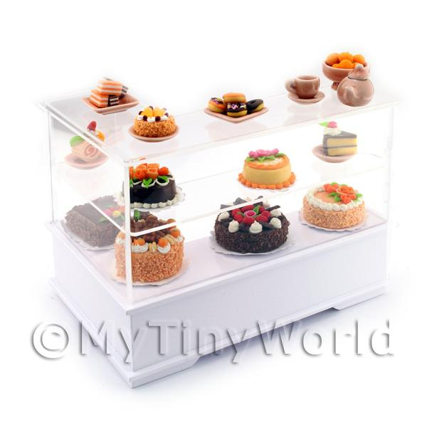 Dolls House Miniature Right Hand Chocolate Orange Cake Counter