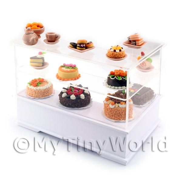 Dolls House Miniature Left Hand Chocolate Orange Cake Counter