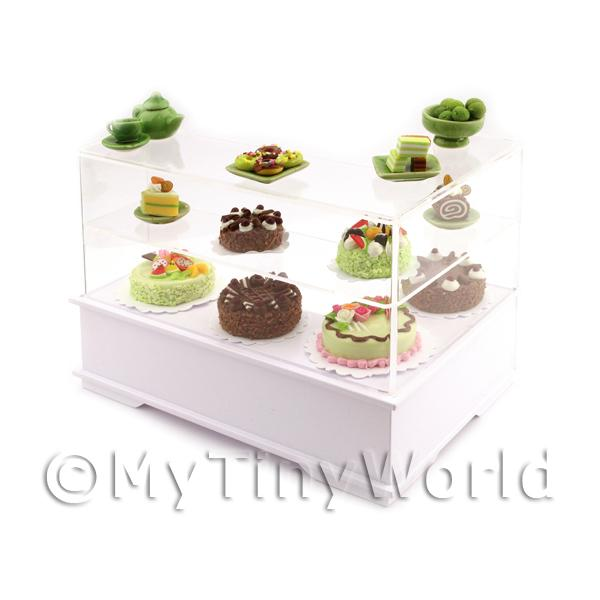 Dolls House Miniature Left Hand Chocolate Lime Cake Counter