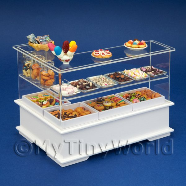 Right Hand Dolls House Miniature Sweet Counter