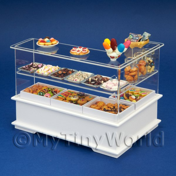Left Hand Dolls House Miniature Sweet Counter