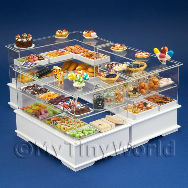 Dolls House Miniature  | Complete Dolls House Miniature Sweet Shop / Bakery Shop Scene