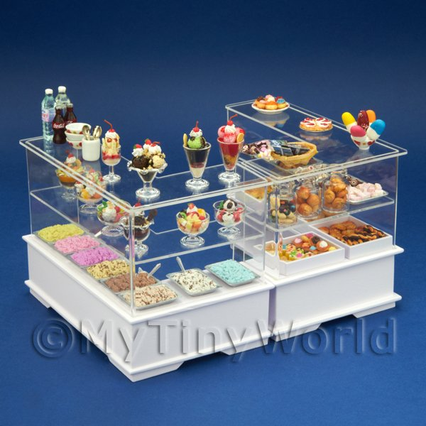Complete Dolls House Miniature Double Dessert Counter
