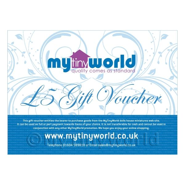 Five Pound Gift Voucher For MyTinyWorld Dolls House