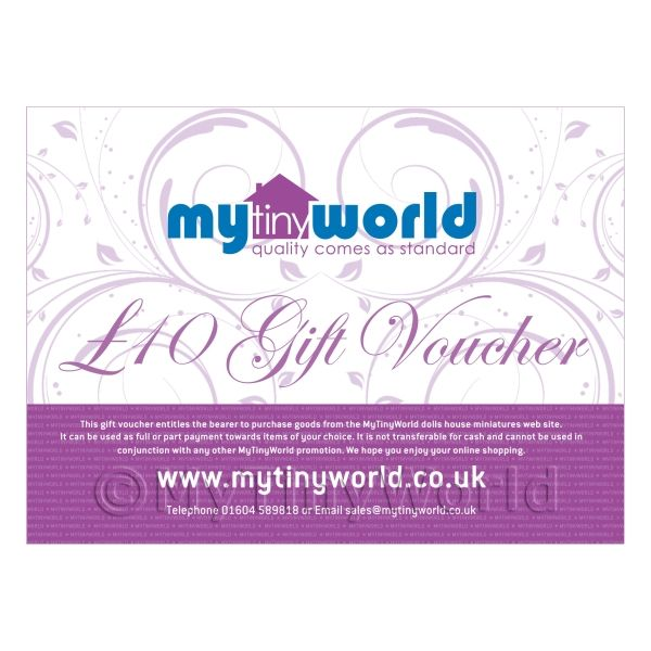 Ten Pound Gift Voucher For MyTinyWorld Dolls House