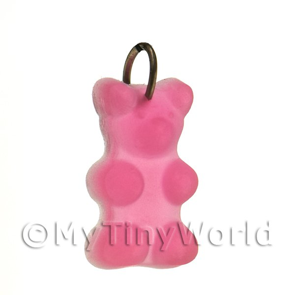Translucent Pink Jelly Bear Charm