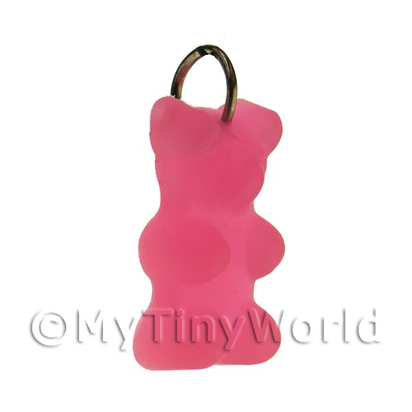 Translucent Light Red Jelly Bear Charm