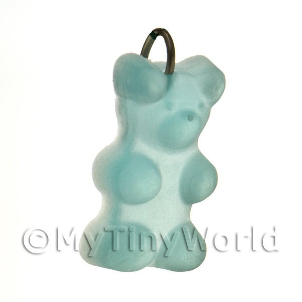 Translucent Pale Blue Jelly Bear Charm