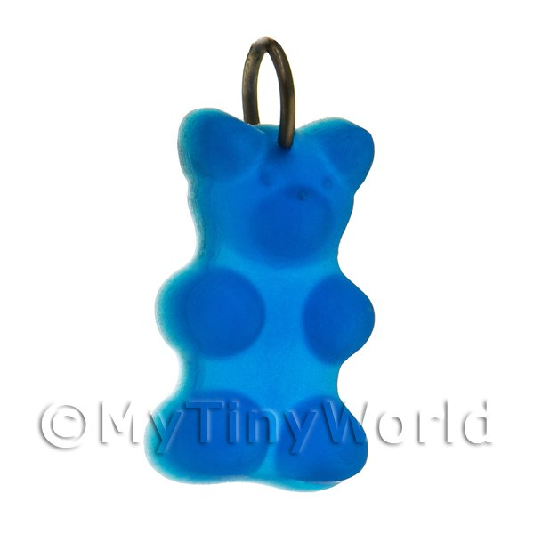 Dolls House Miniature  | Translucent Royal Blue Jelly Bear Charm