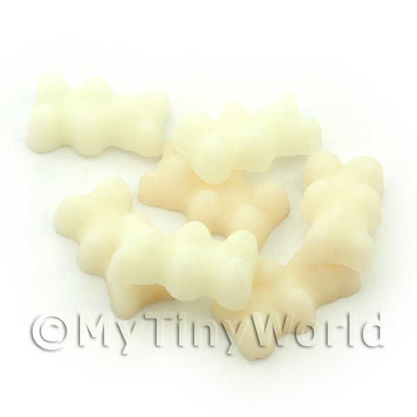 Solid White Silicon Rubber Jelly Bear Charm For Jewellery