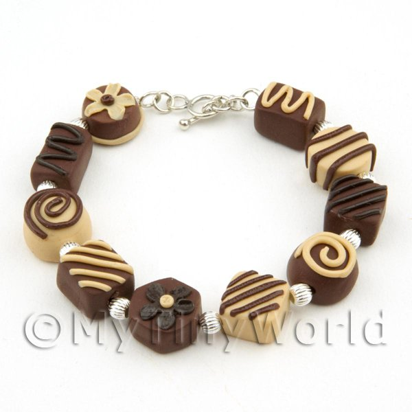 Handmade Stirling Silver And Chocolate Bracelet