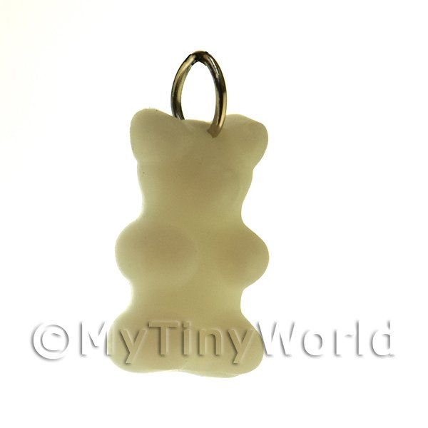 Solid White Silicon Rubber Jelly Bear Charm