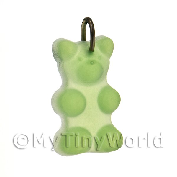 Translucent Pale Green Jelly Bear Charm