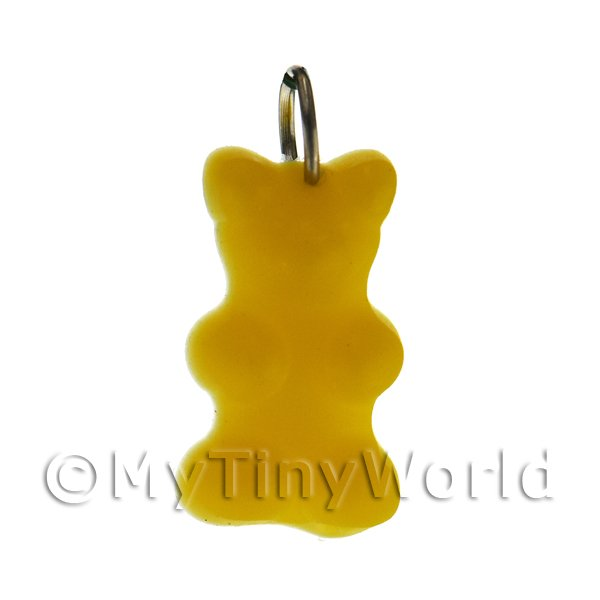 Solid Dark Yellow Jelly Bear Charm