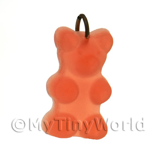Translucent Orange Jelly Bear Charm