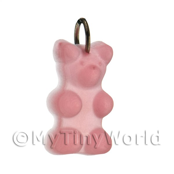 Translucent Light Pink Jelly Bear Charm