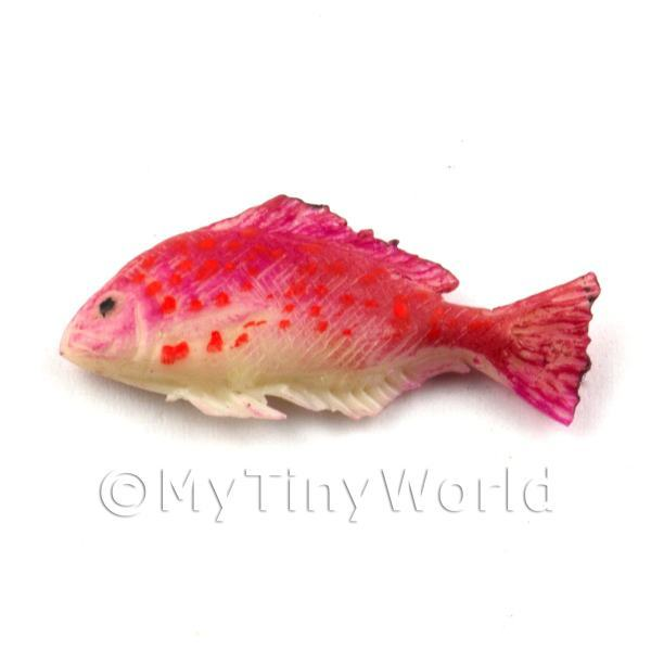 Dolls House Miniature Detailed Pink Fish